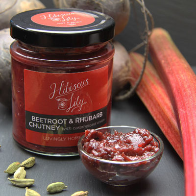 Beetroot Rhubarb Chutney Caramelised Onion